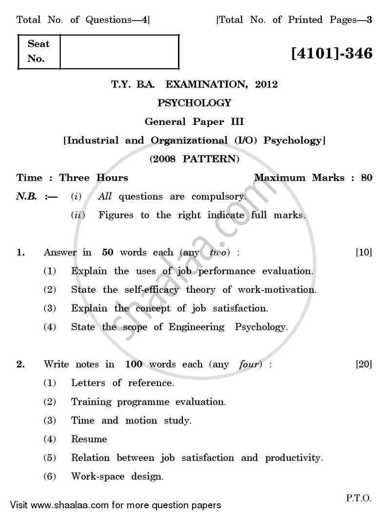 psychology 3 essay Psychology assignment description: to complete this assignment, you will answer four questions in a paragraph of five to seven sentences each choose one question to answer from groups 1 and 2, and answer the question in group 3 and 4.