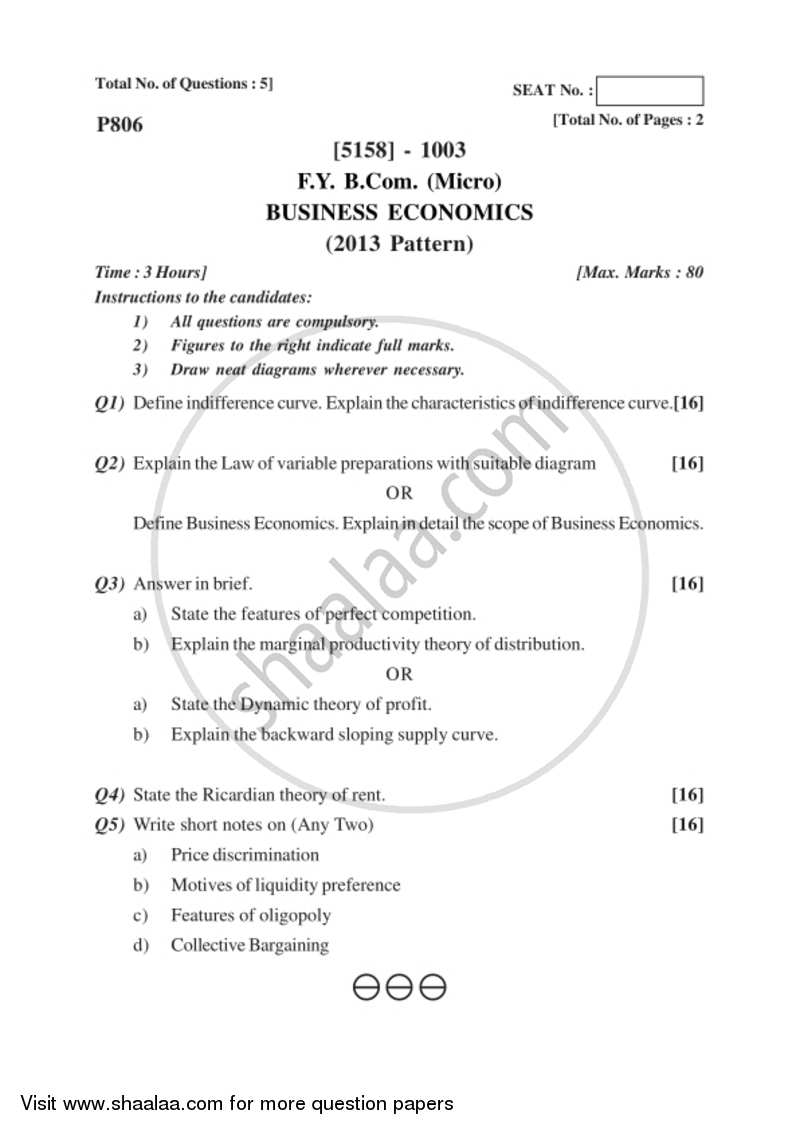 business economics multiple choice questions and answers pdf