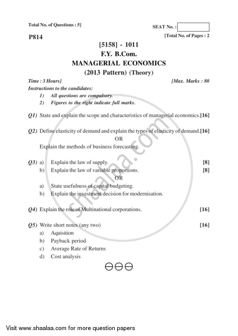 characteristics of managerial economics pdf