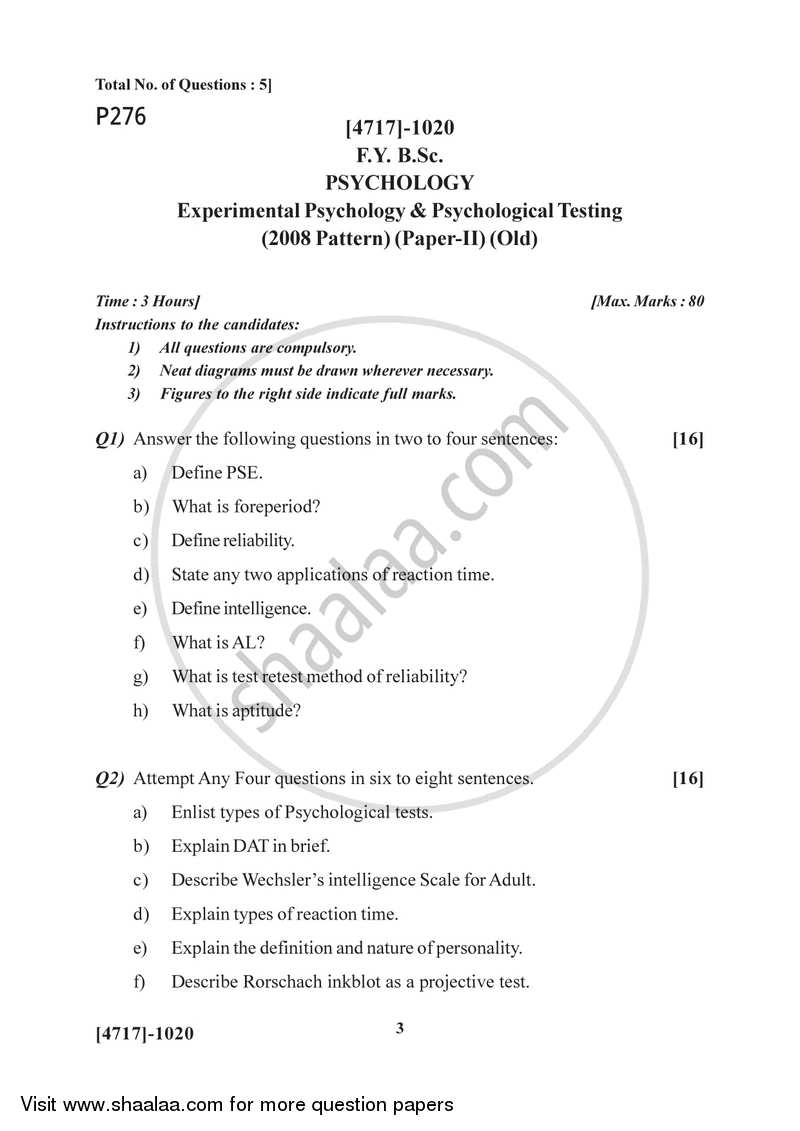 Experimental Psychology and Psychological Testing 2014-2015