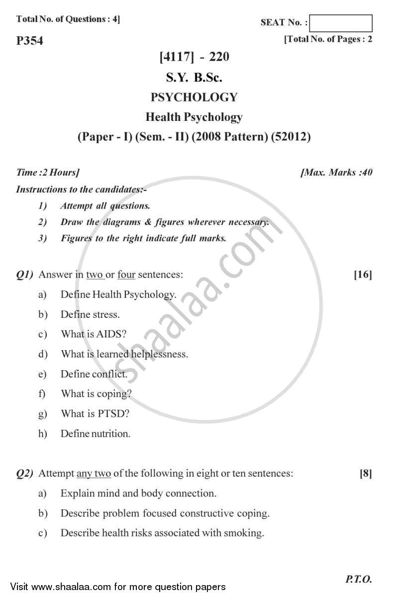 question paper health psychology b sc semester question paper health psychology 2012 2013 b sc semester 4