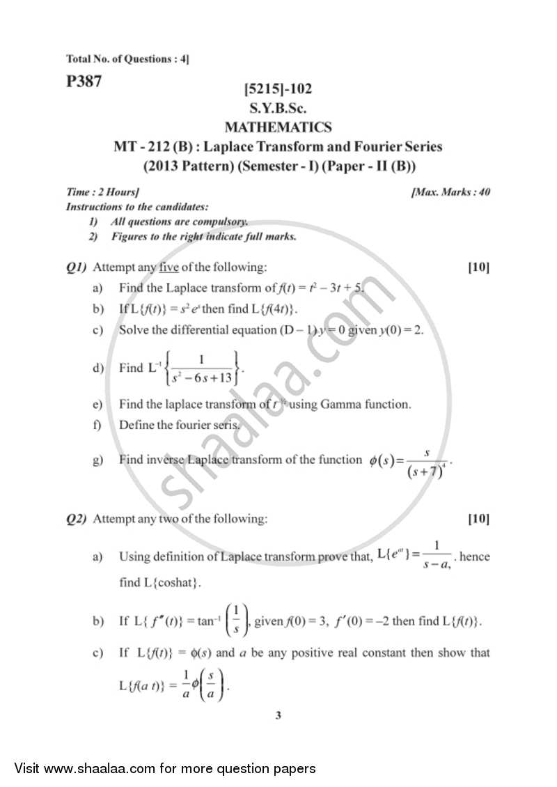 Fourier series important questions pdf