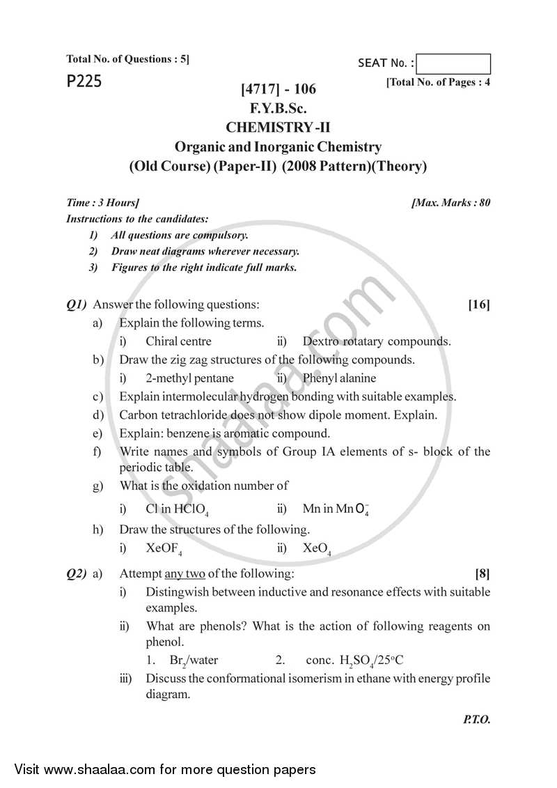 Thesis of inorganic chemistry - Research paper Sample