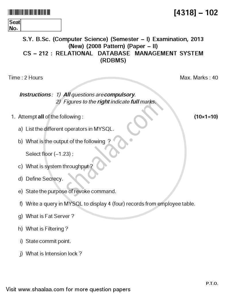 Relational database management system pdf download