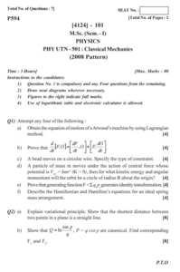 Quantum Mechanics 1 2011-2012 M Sc Physics Semester 1 question paper