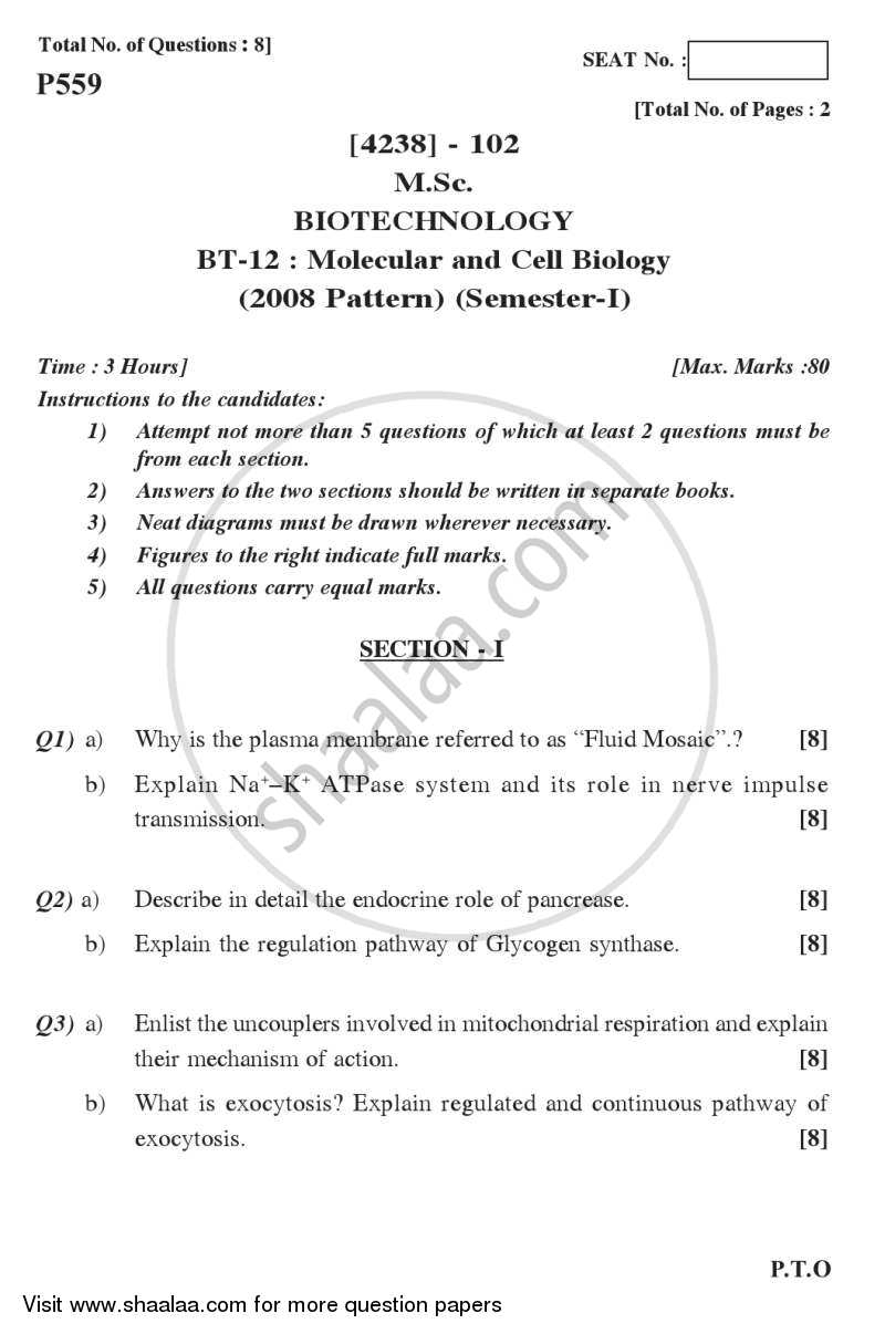 molecular and cell biology essay Open document below is an essay on cell and molecular biology from anti essays, your source for research papers, essays, and term paper examples.